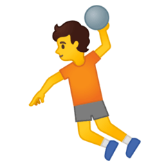 Person Playing Handball Emoji on Google Android and Chromebooks