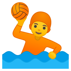 Persona jugando al waterpolo Emoji Google Android, Chromebook