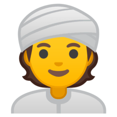 Persona con turbante Emoji Google Android, Chromebook