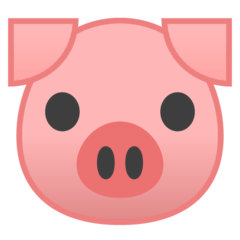Pig Face Emoji on Google Android and Chromebooks