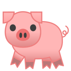 Pig Emoji on Google Android and Chromebooks