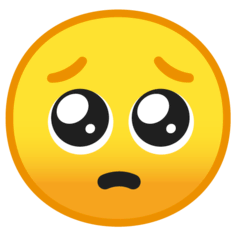Pleading Face Emoji on Google Android and Chromebooks