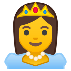 Princess Emoji on Google Android and Chromebooks