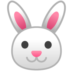 Rabbit Face Emoji on Google Android and Chromebooks