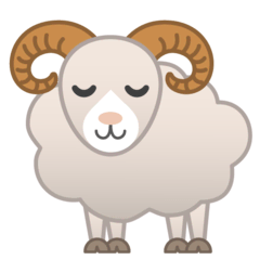Ram Emoji on Google Android and Chromebooks