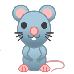 Rat Emoji on Google Android and Chromebooks