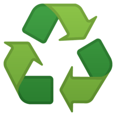 Recycling Symbol Emoji on Google Android and Chromebooks