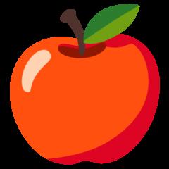 Maçã vermelha Emoji Google Android, Chromebook