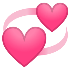 Revolving Hearts Emoji on Google Android and Chromebooks