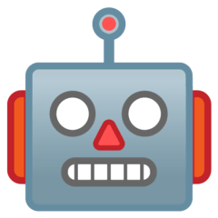 Robot Emoji on Google Android and Chromebooks