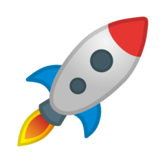 Rocket Emoji on Google Android and Chromebooks