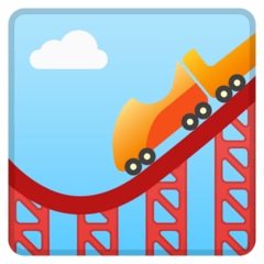 Roller Coaster Emoji on Google Android and Chromebooks