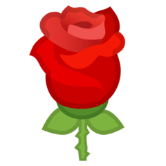 Rose Emoji Google Android, Chromebook