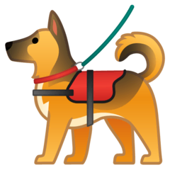 Service Dog Emoji on Google Android and Chromebooks