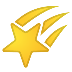 Shooting Star Emoji on Google Android and Chromebooks