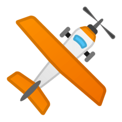 Small Airplane Emoji on Google Android and Chromebooks