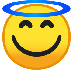 Smiling Face With Halo Emoji on Google Android and Chromebooks