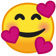Smiling Face With Hearts Emoji on Google Android and Chromebooks