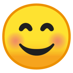 Smiling Face With Smiling Eyes Emoji on Google Android and Chromebooks