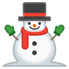 Snowman Without Snow Emoji on Google Android and Chromebooks