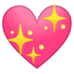 Sparkling Heart Emoji on Google Android and Chromebooks
