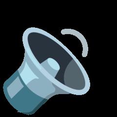 Altifalante com som médio Emoji Google Android, Chromebook