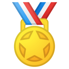 Sports Medal Emoji on Google Android and Chromebooks