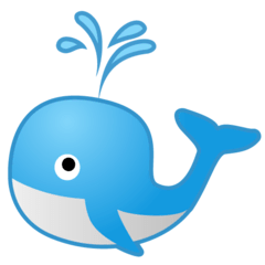 Spouting Whale Emoji on Google Android and Chromebooks