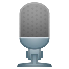 Studio Microphone Emoji on Google Android and Chromebooks