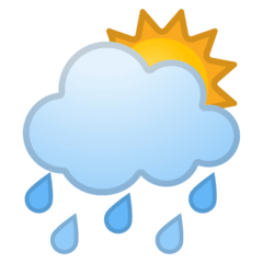 Sonne hinter Regenwolke Emoji Google Android, Chromebook