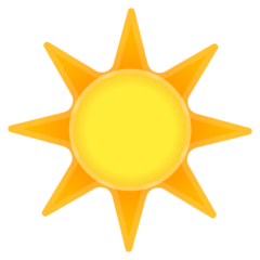 Sun Emoji on Google Android and Chromebooks