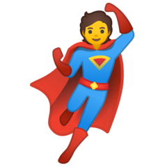 Supereroe Emoji Google Android, Chromebook