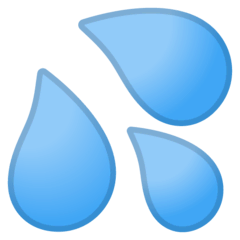 Sweat Droplets Emoji on Google Android and Chromebooks