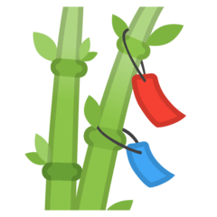 Tanabata Tree Emoji on Google Android and Chromebooks