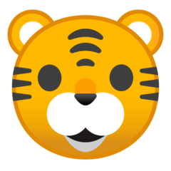 Tiger Face Emoji on Google Android and Chromebooks
