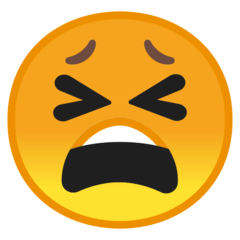 Tired Face Emoji on Google Android and Chromebooks
