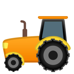 Tractor Emoji on Google Android and Chromebooks