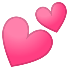 Two Hearts Emoji on Google Android and Chromebooks