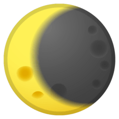 Waning Crescent Moon Emoji on Google Android and Chromebooks