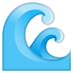 Water Wave Emoji on Google Android and Chromebooks