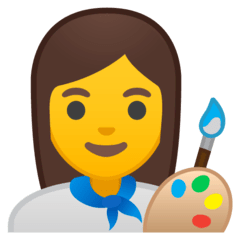 Woman Artist Emoji on Google Android and Chromebooks