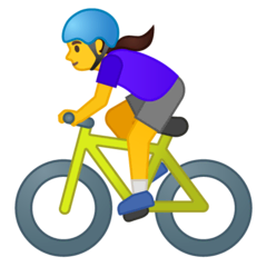 Mujer ciclista Emoji Google Android, Chromebook