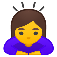 Woman Bowing Emoji on Google Android and Chromebooks