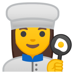 Woman Cook Emoji on Google Android and Chromebooks