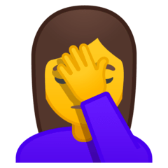 Woman Facepalming Emoji on Google Android and Chromebooks