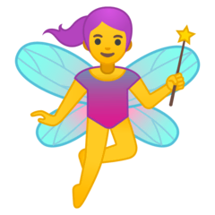 Woman Fairy Emoji on Google Android and Chromebooks