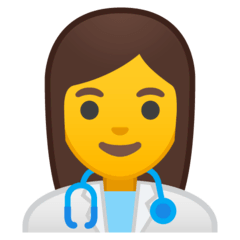 ️Woman Health Worker Emoji on Google Android and Chromebooks