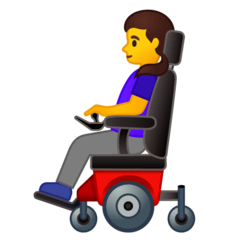 Woman In Motorized Wheelchair Emoji on Google Android and Chromebooks