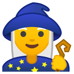 Woman Mage Emoji on Google Android and Chromebooks