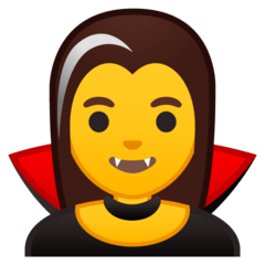 Woman Vampire Emoji on Google Android and Chromebooks
